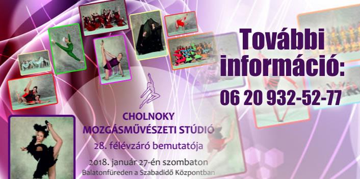 Cholnoky Mozgásművészeti Stúdió félévzáró bemutatója